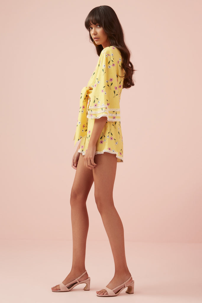 LIMONCELLO PLAYSUIT yellow floral