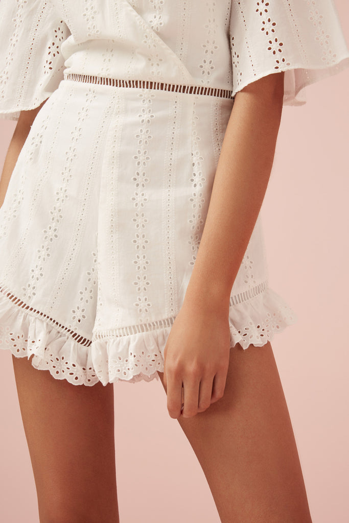SUNDAYS PLAYSUIT white