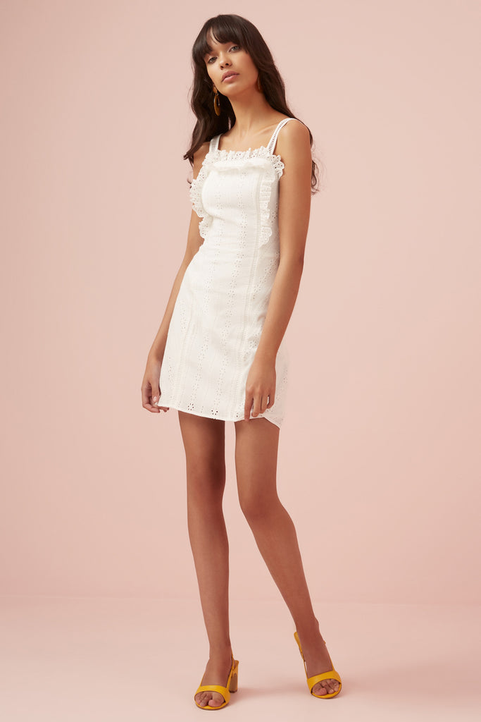 SUNDAYS MINI DRESS white