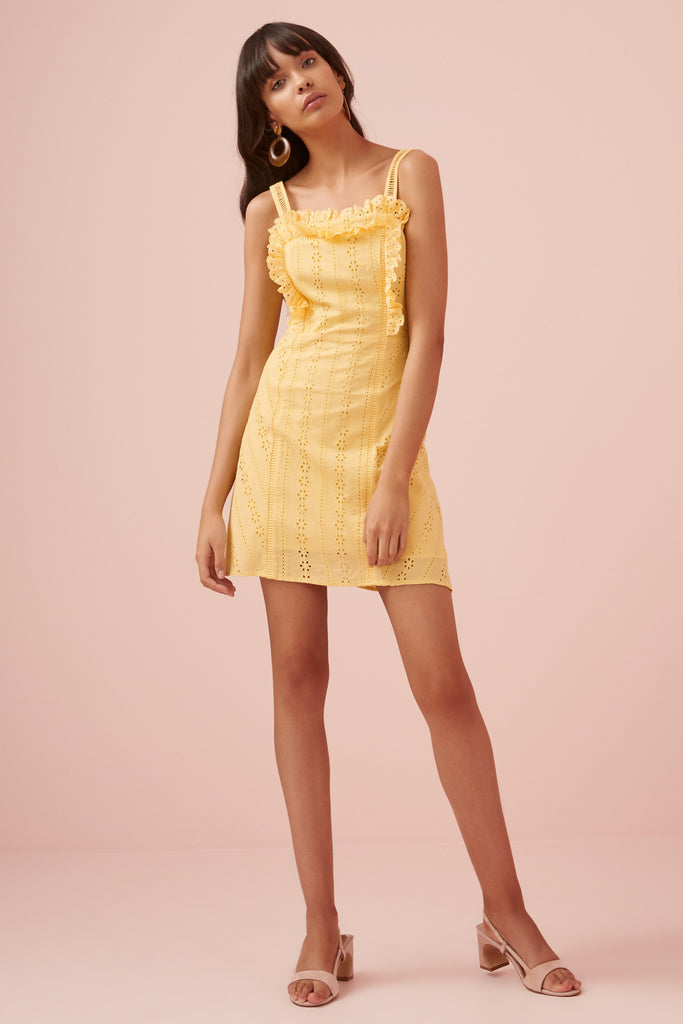 SUNDAYS MINI DRESS yellow
