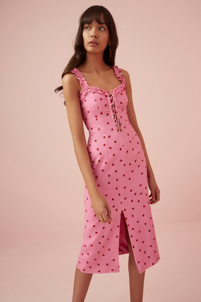 LOLA DRESS pink strawberry