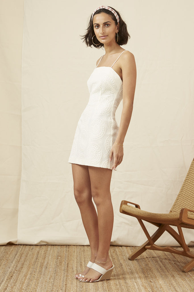 KOBIE MINI DRESS ivory