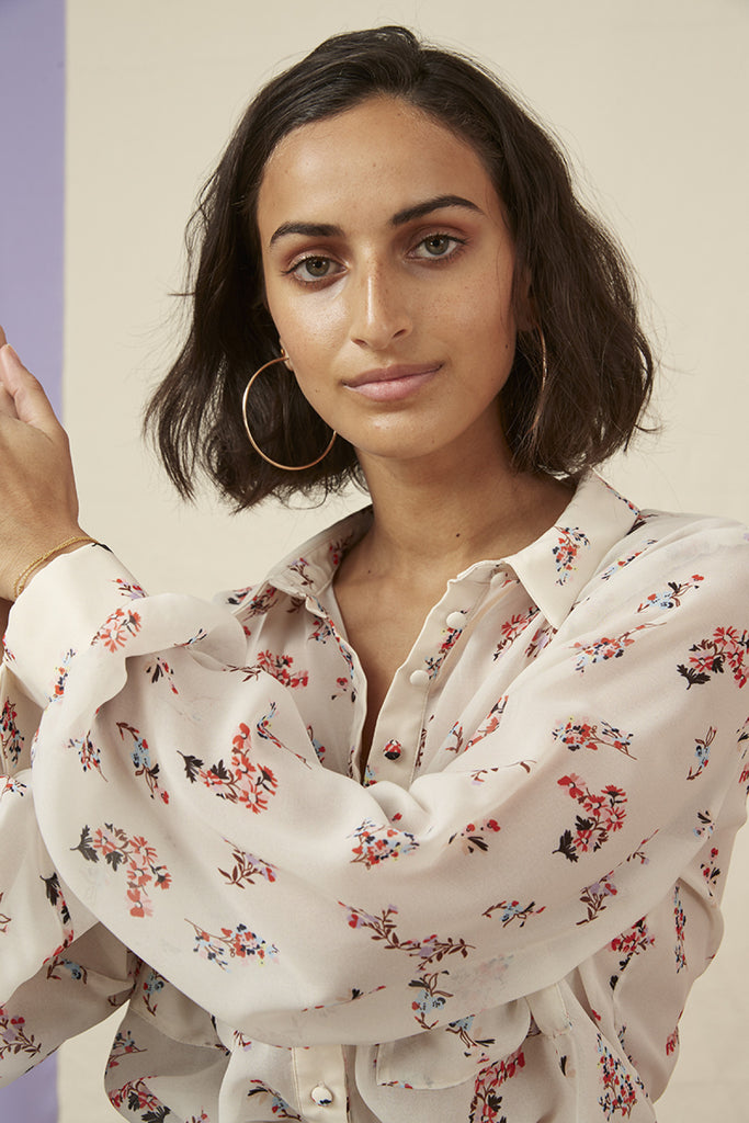 FRANKIE SHIRT nude floral