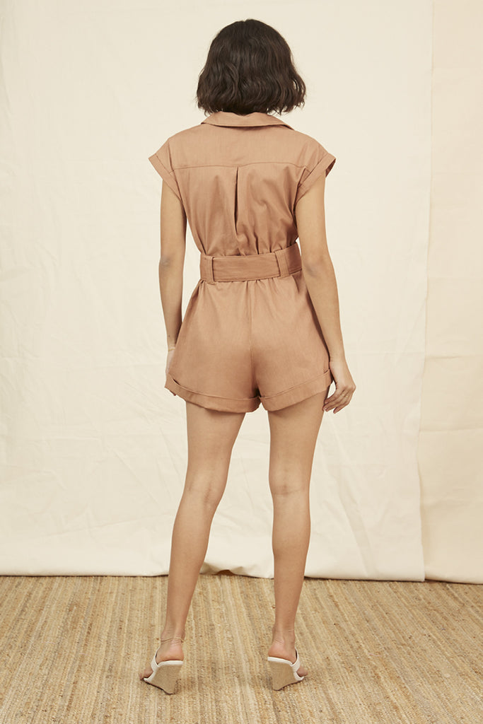 UTILITY PLAYSUIT tan