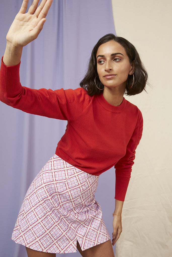 JOSIE LONG SLEEVE KNIT red