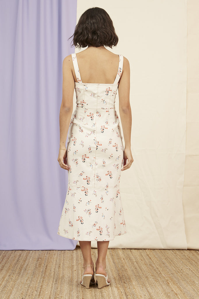 FRANKIE DRESS nude floral