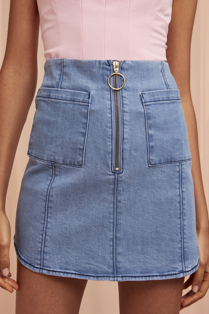 CLAUDIA DENIM SKIRT blue