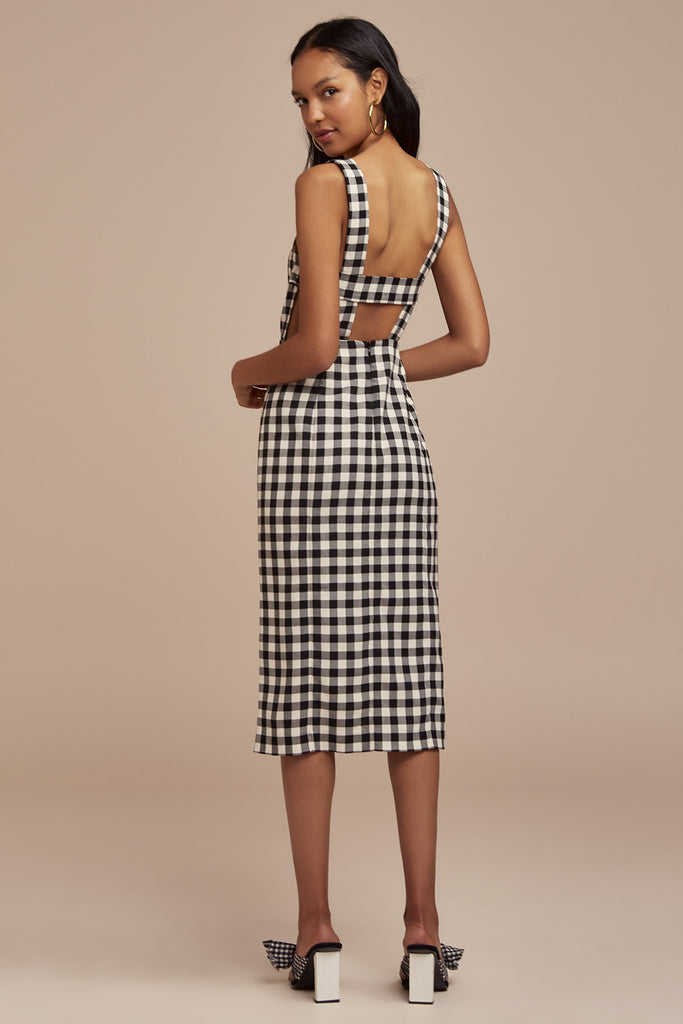 GIGI DRESS black check