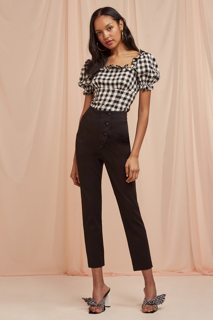 GIGI BODICE black check