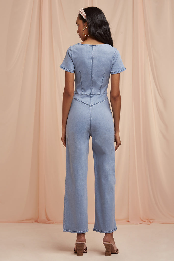 CLAUDIA DENIM JUMPSUIT blue