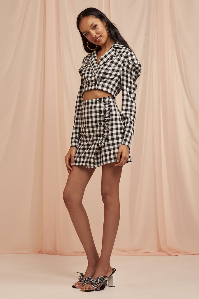 GIGI TOP black check