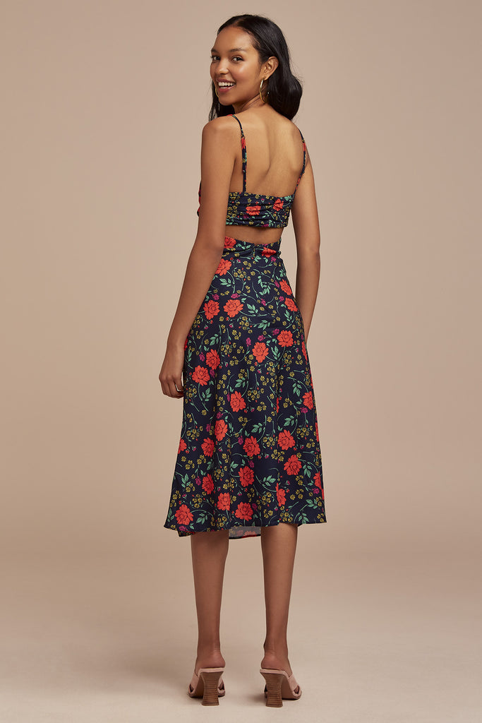 HANA DRESS navy floral