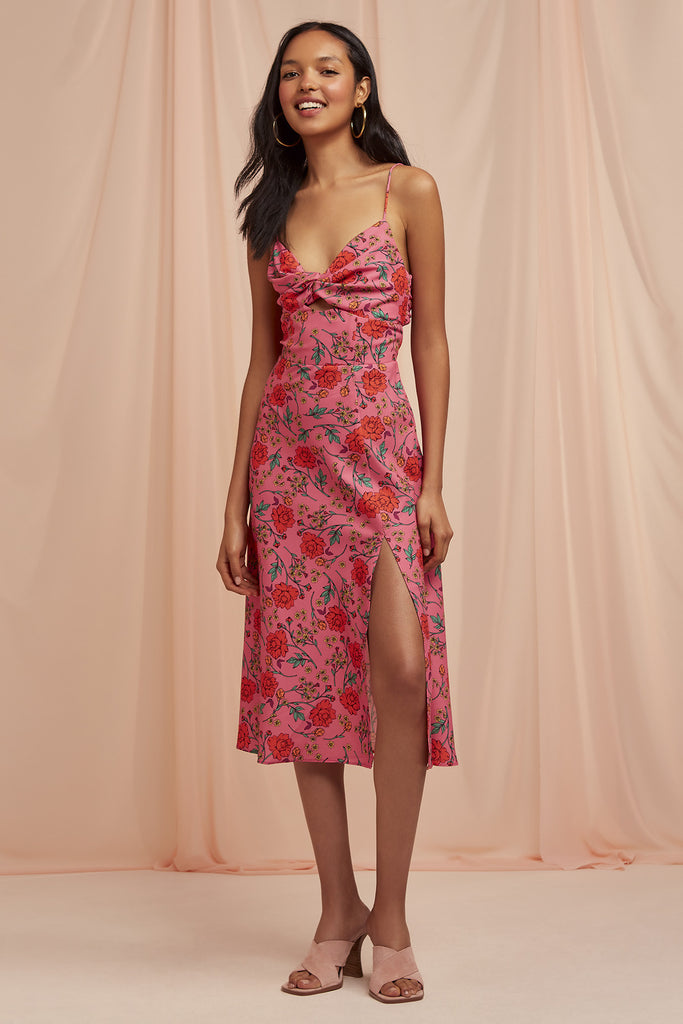 HANA DRESS fuschia floral