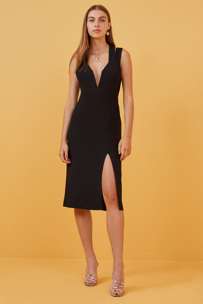24b5c5e14b FINDERS KEEPERS | LINES DRESS black – Finders Keepers | Australian Womens  Fashion Label