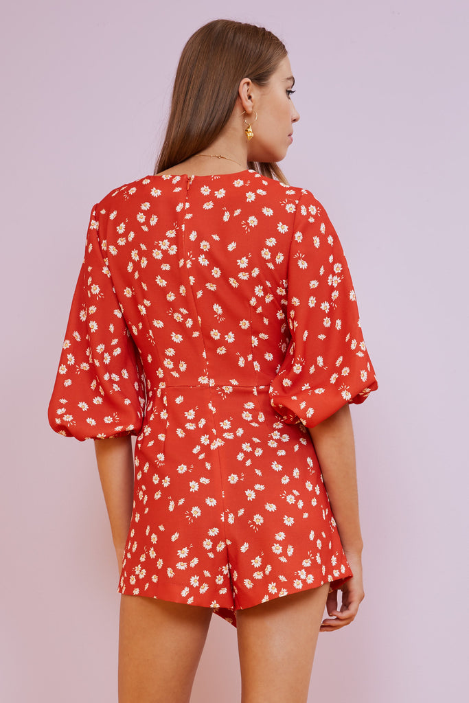 MAE PLAYSUIT red daisy