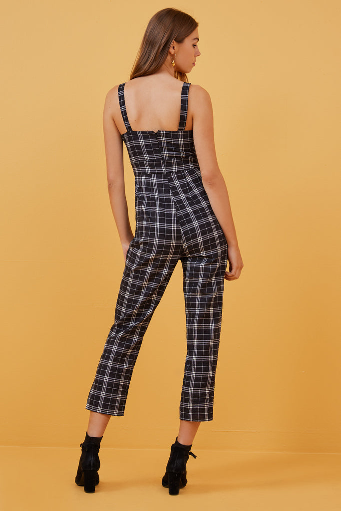SADIE PANTSUIT black check