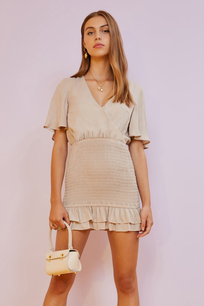 EVE MINI DRESS nude