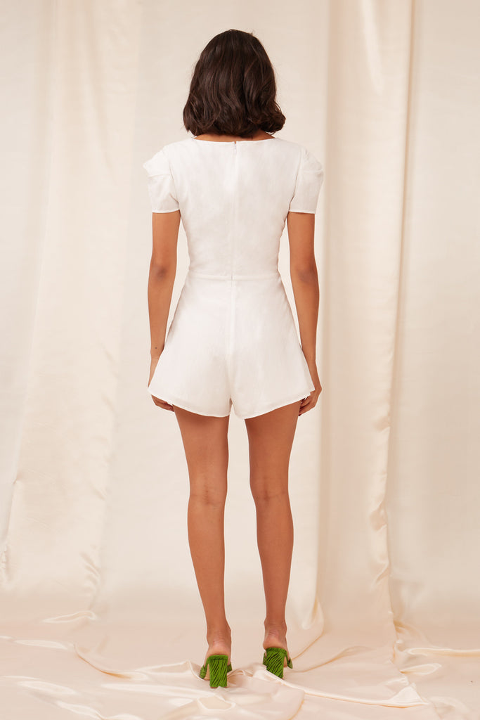 FLORENCE PLAYSUIT white