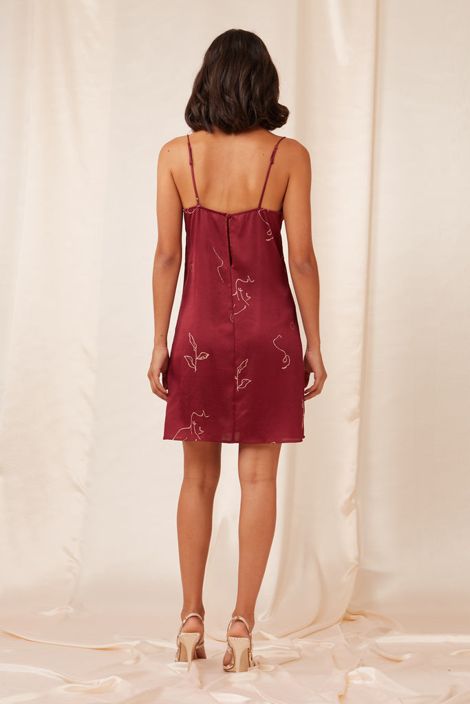 CRISTINA MINI DRESS cherry sketch