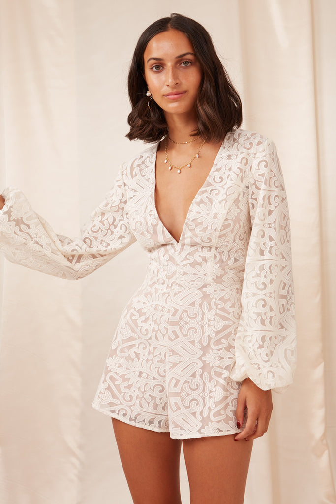 SOFIA PLAYSUIT ivory