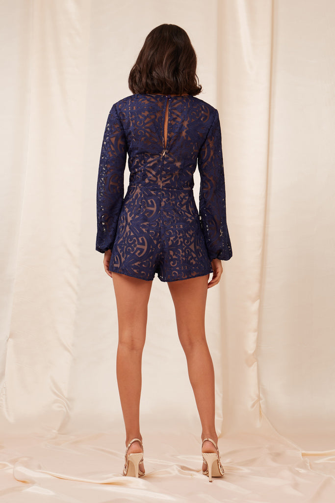 SOFIA PLAYSUIT navy