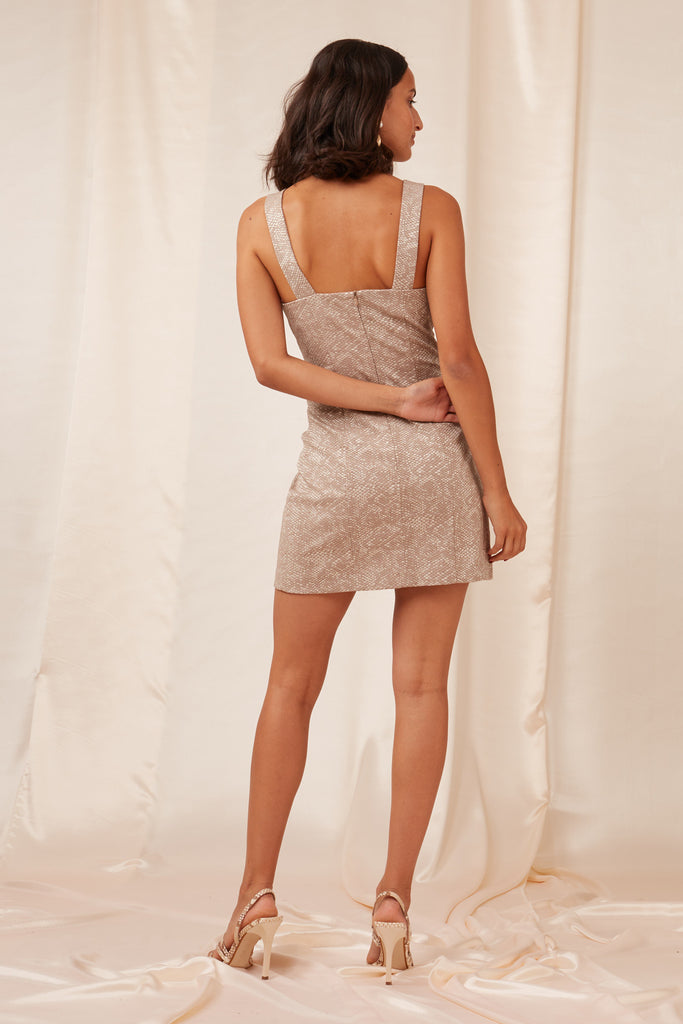 OLIVIA MINI DRESS snakeskin