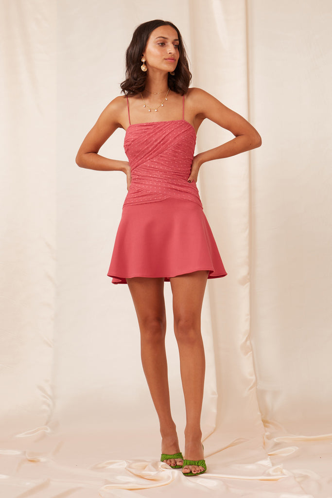 PALERMO MINI DRESS rose