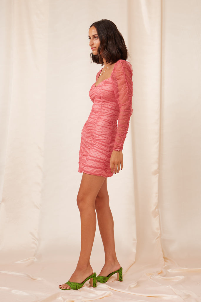 PALERMO LONG SLEEVE DRESS rose