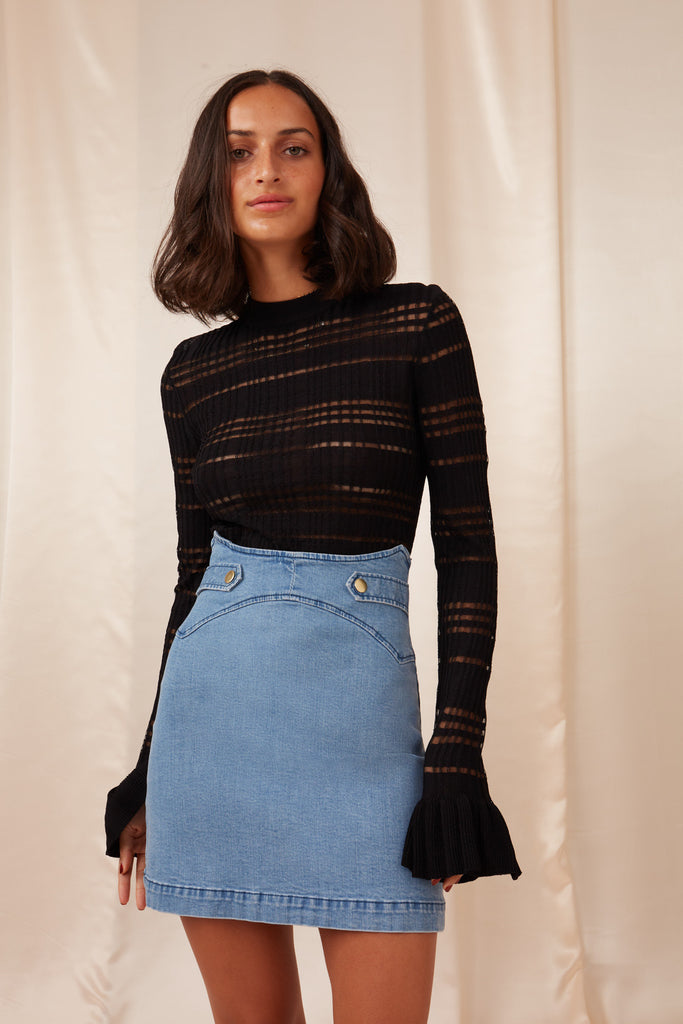 MIA DENIM SKIRT blue
