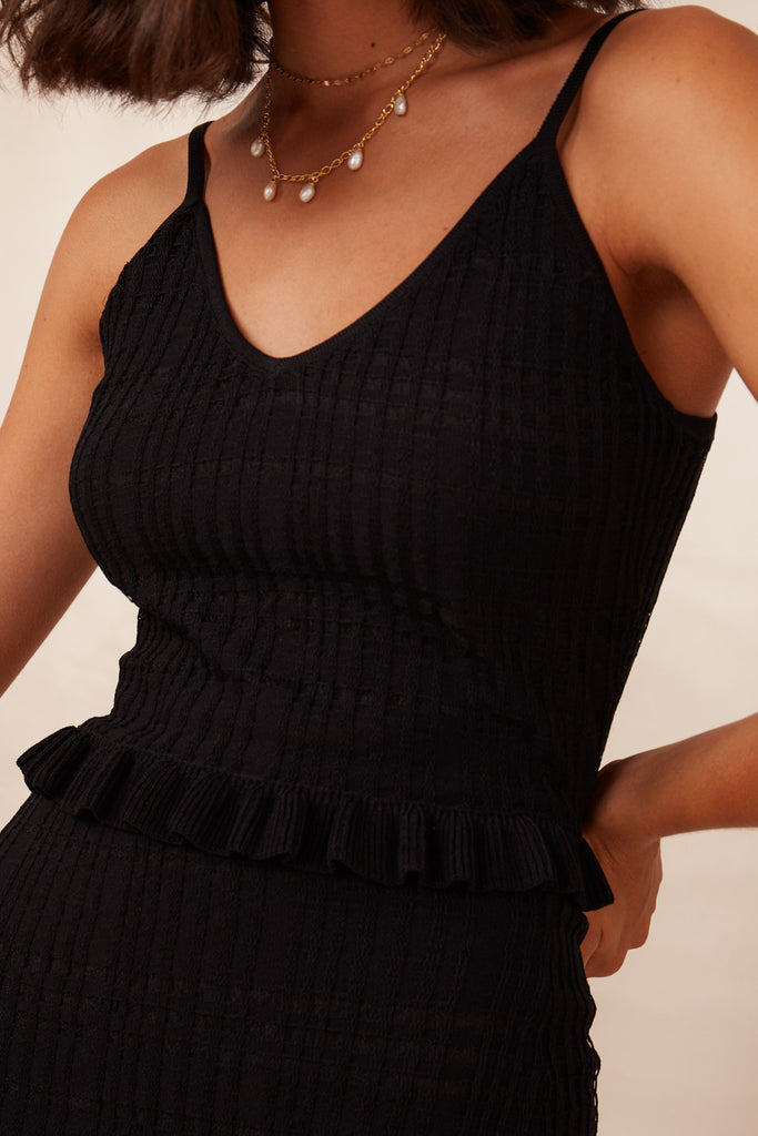 LUCA KNIT CAMI black