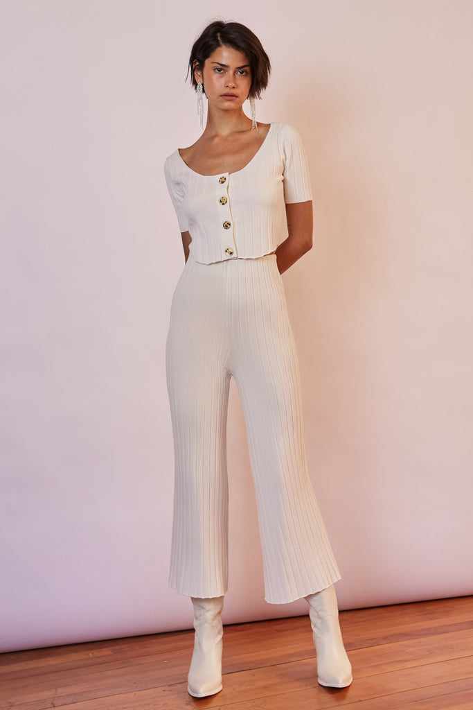 WEST COAST KNIT CULOTTE white
