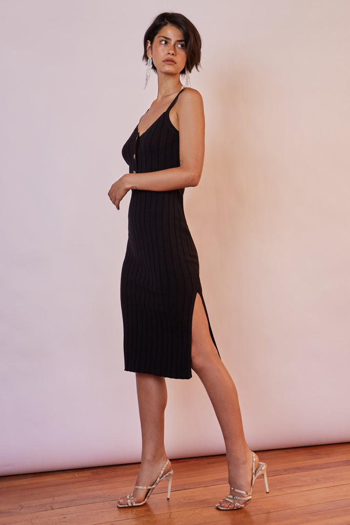 WEST COAST KNIT DRESS black