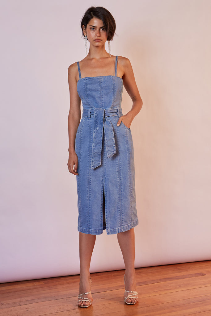 MIAMI DENIM DRESS washed blue