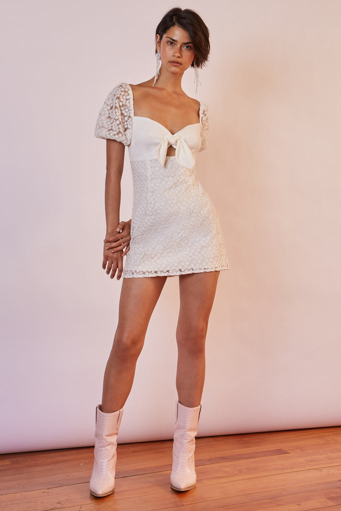HONEYMOON MINI DRESS ivory