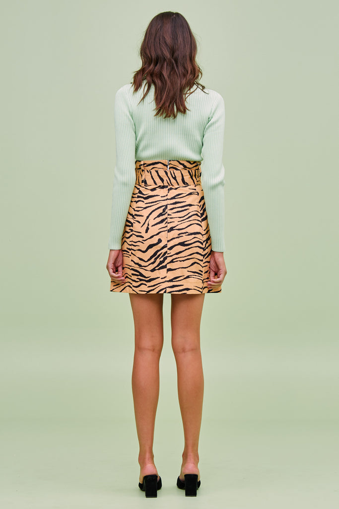 HELOISE SKIRT tan tiger