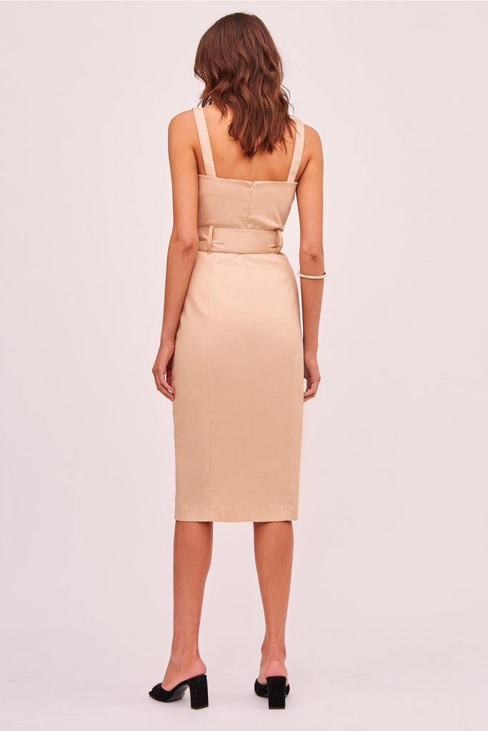 LOTTIE MIDI DRESS nude