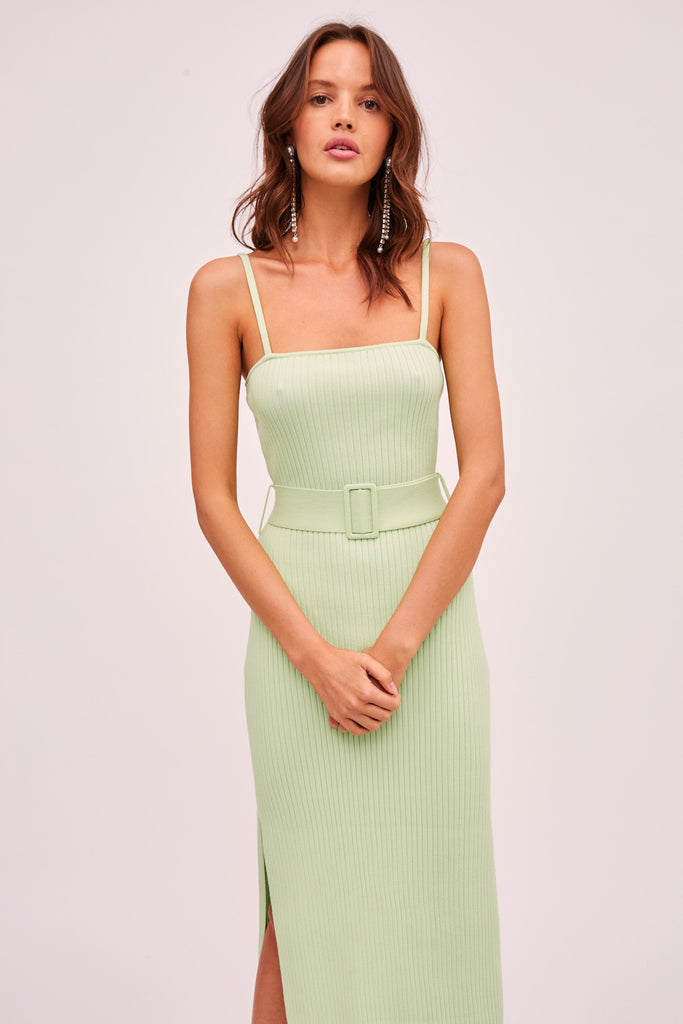 BRIGGITTE KNIT DRESS green