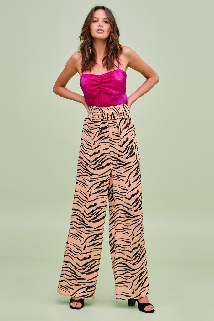 HELOISE PANT tan tiger