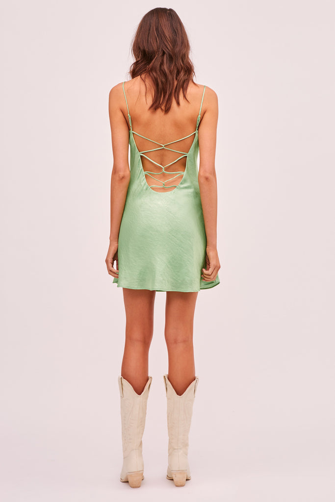 YASMINE MINI DRESS green