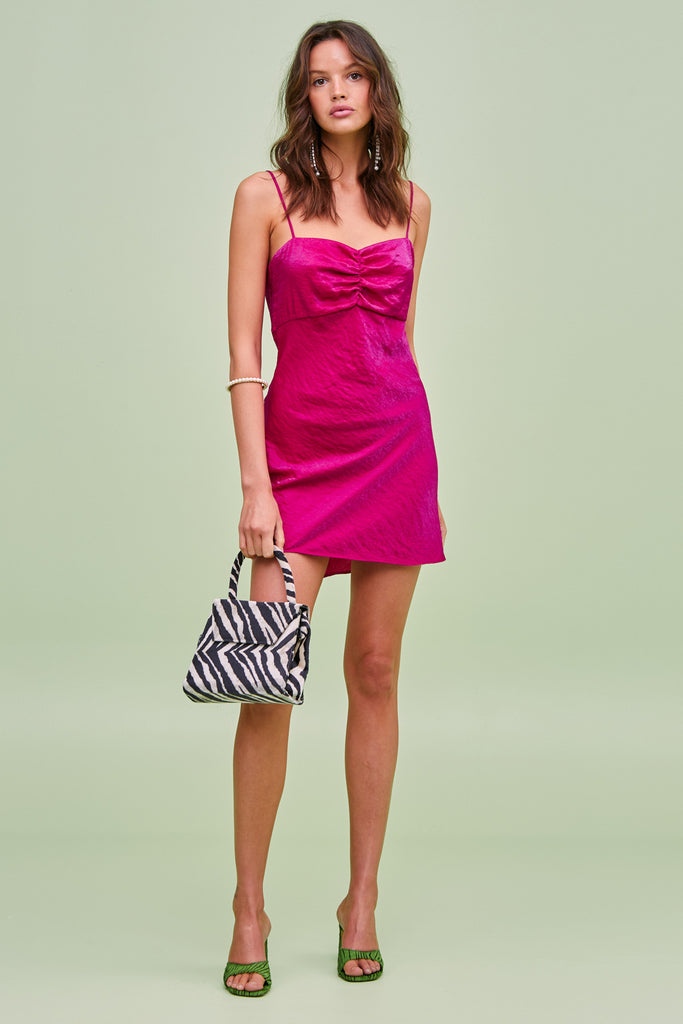YASMINE MINI DRESS fuchsia