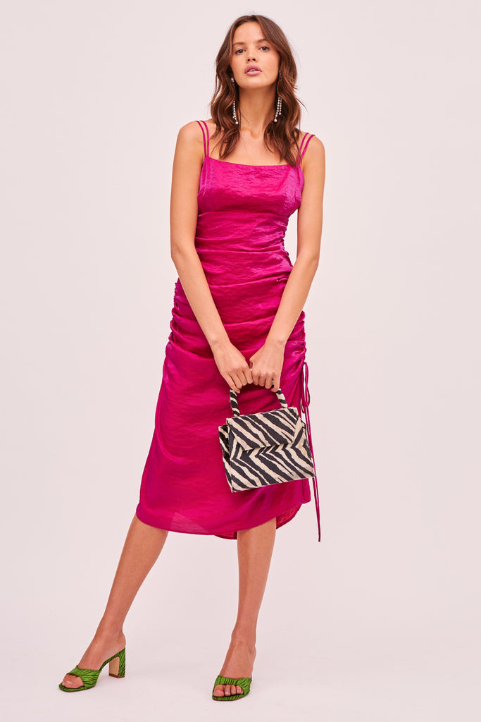 YASMINE DRESS fuchsia