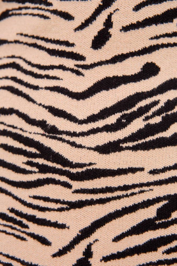 TIGER KNIT DRESS tan tiger