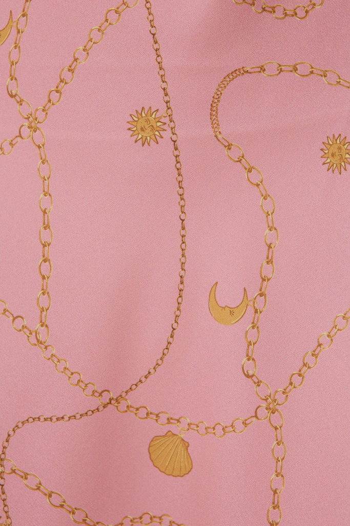 CHAINS DRESS pink charms