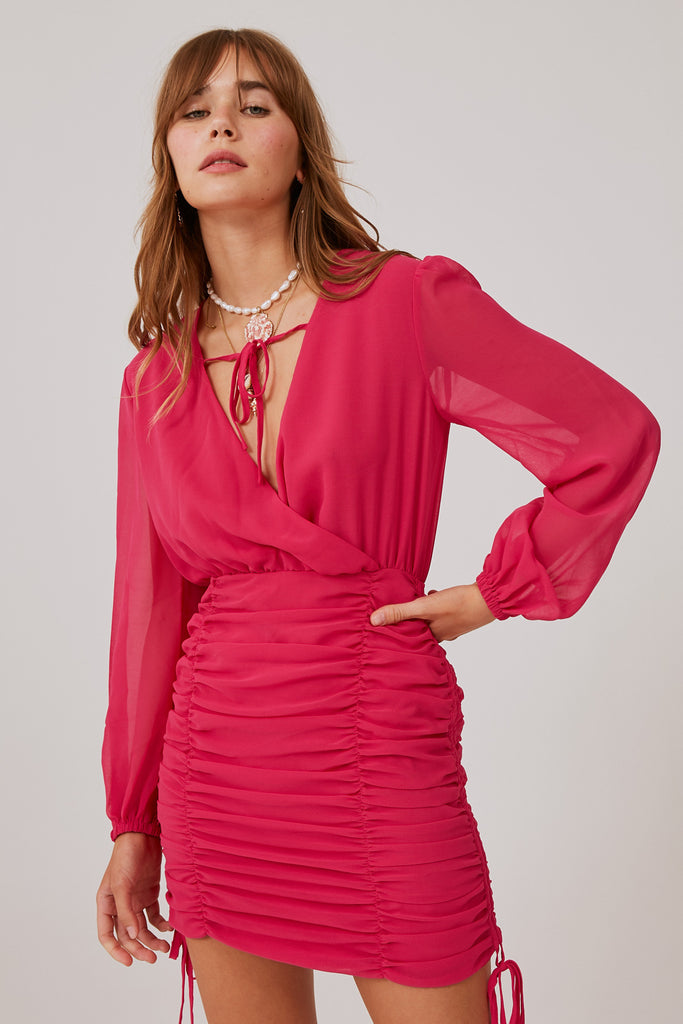PIA DRESS fuchsia