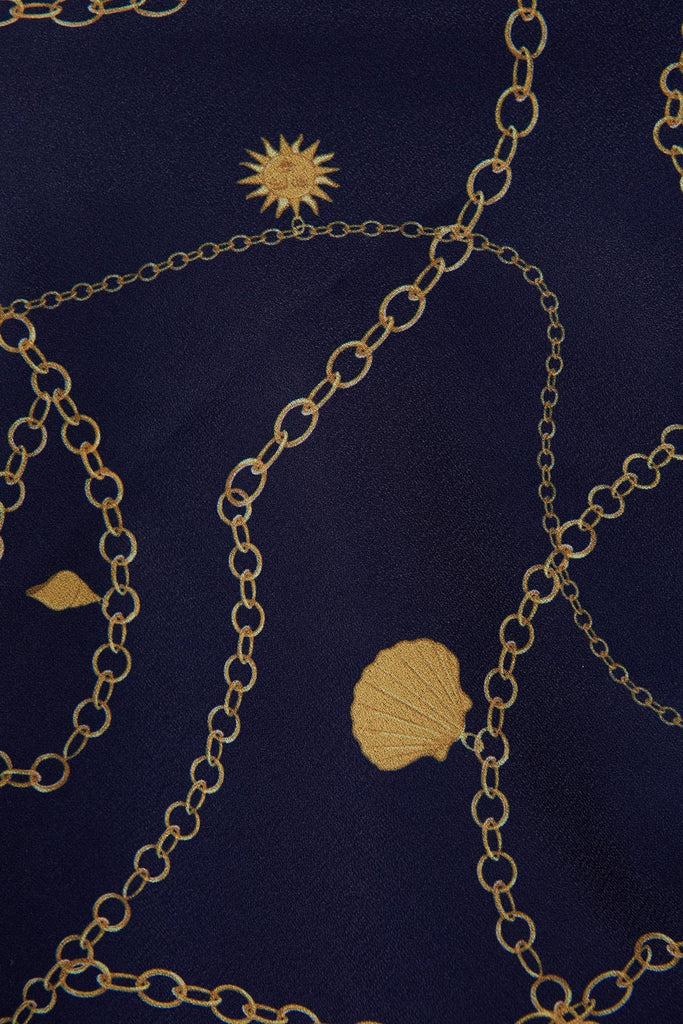 CHAINS SCARF navy charms
