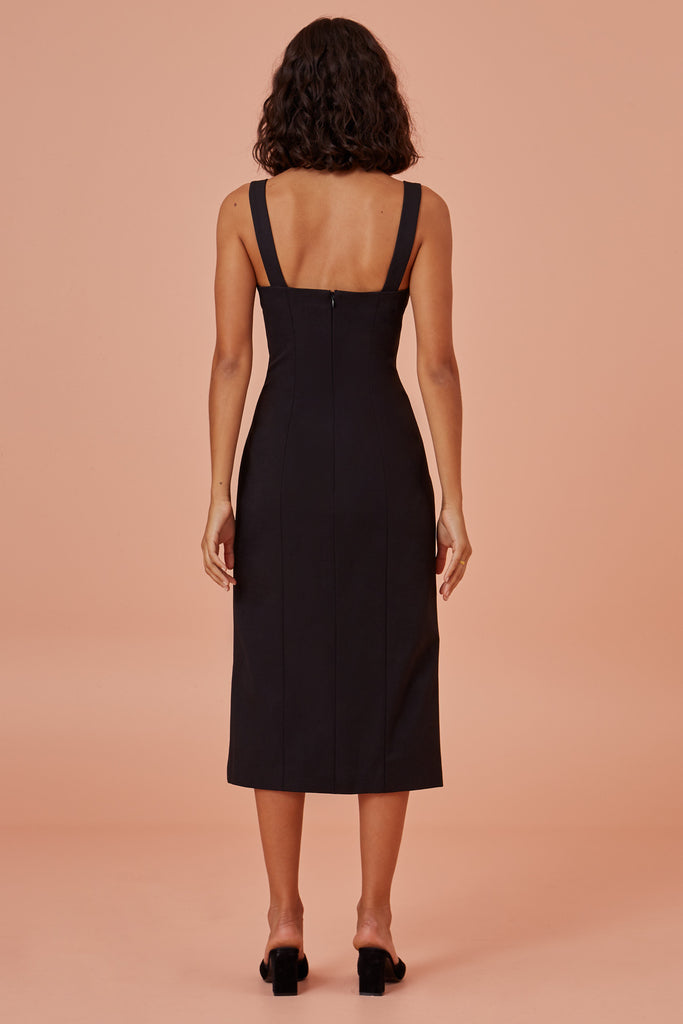 TIA DRESS black
