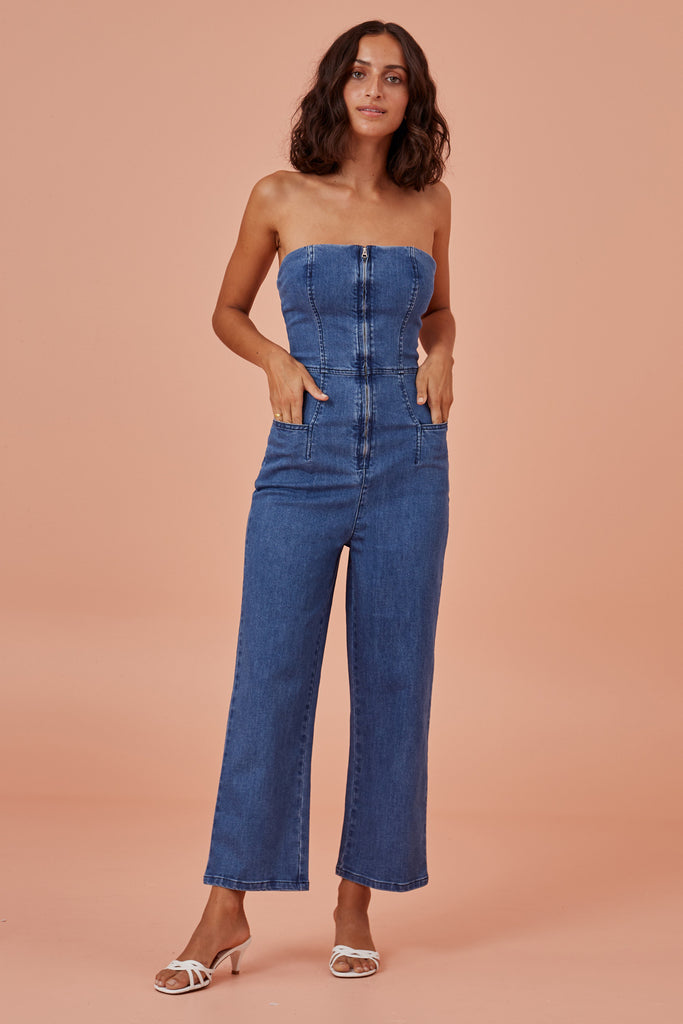 LOLA PANTSUIT washed blue
