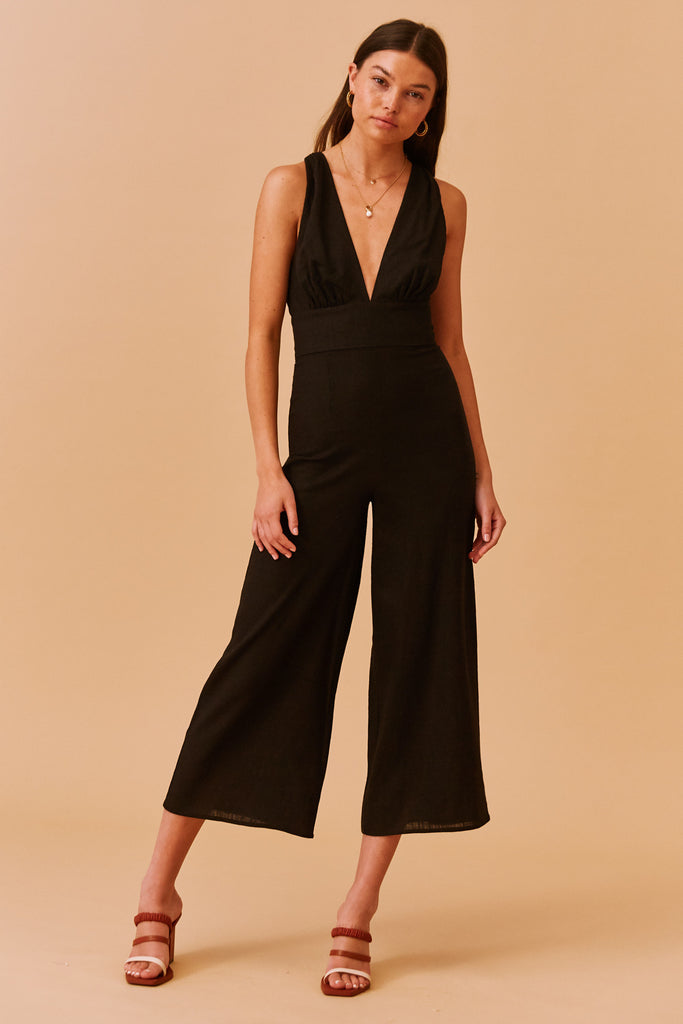 SALLY PANTSUIT black