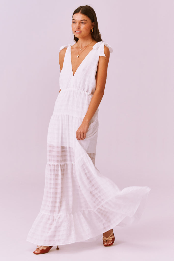 LUCIETTI MAXI DRESS ivory