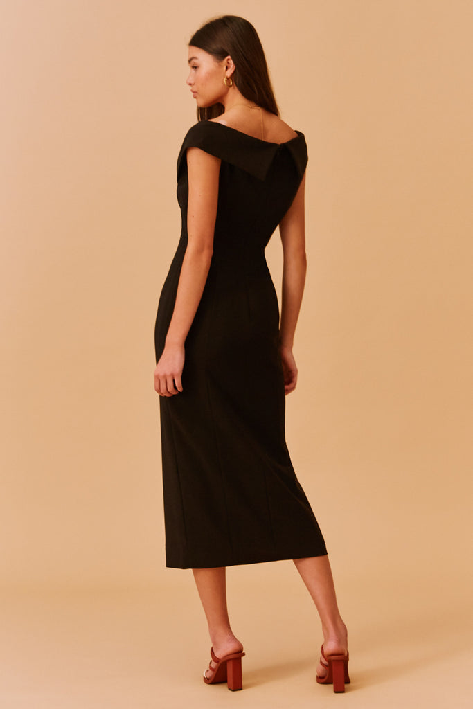 MAE MIDI DRESS black